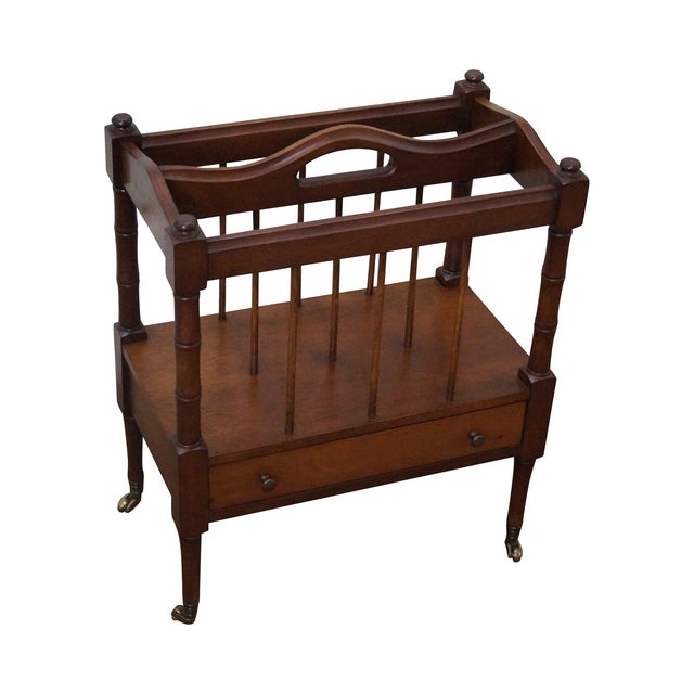 Schott Furniture Solid Mahogany Magazine Stand - Image 1 of 10