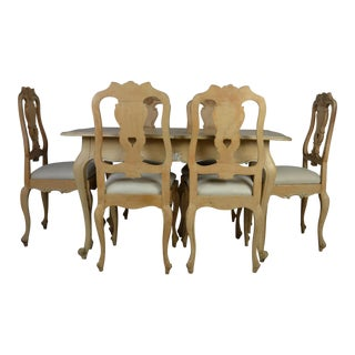 French Provincial Dining Furniture-Set of 7 For Sale