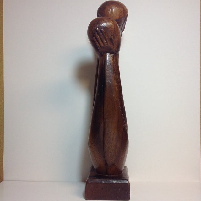 Mid-Century Carved Sculpture - Image 3 of 9