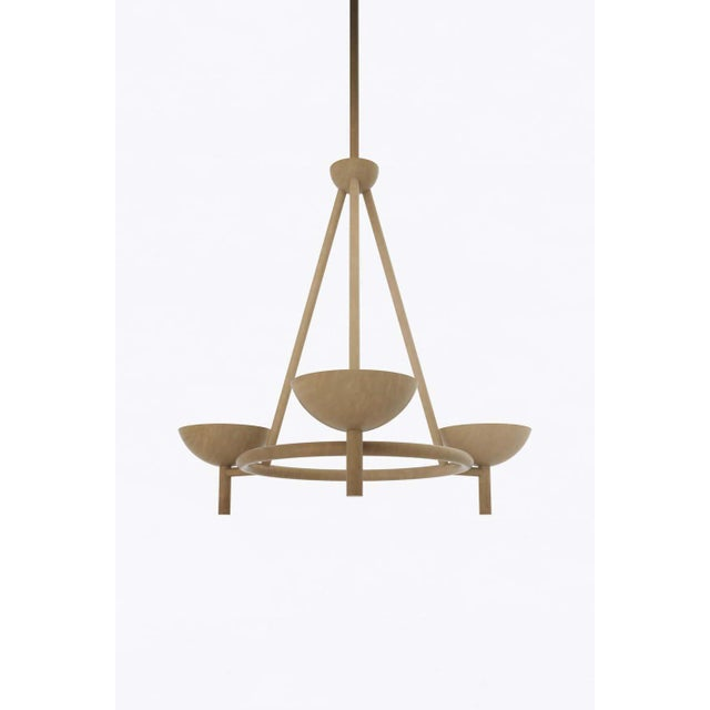 Postmodern Contemporary 200 Chandelier in Brushed Brass by Orphan Work, 2020 For Sale - Image 3 of 6