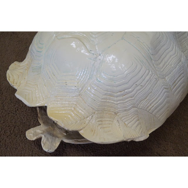 Mid-Century Faux Turtle Shell Wall Sculptures - A Pair For Sale - Image 5 of 10