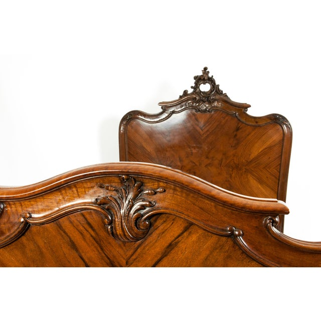Chippendale Hand Carved Mahogany Matching Single Beds - a Pair For Sale - Image 9 of 13