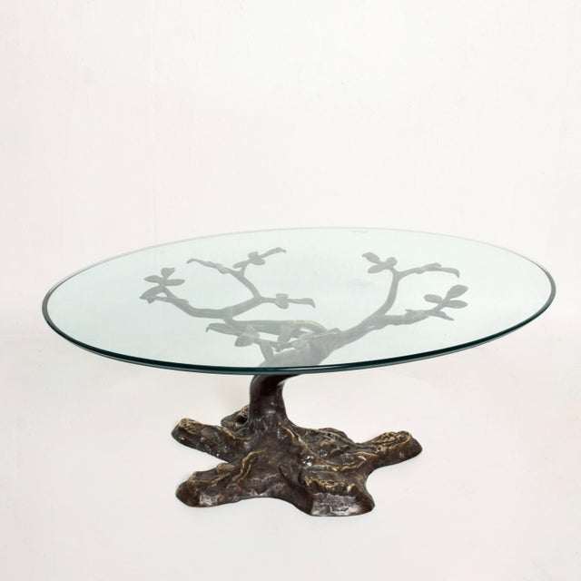 Willy Daro Mid-Century Contemporary Bronze Bonsai Tree Coffee Table For Sale - Image 9 of 9