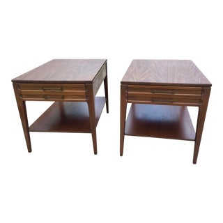 1960's Vintage Mersman Mid-Century Modern Wood End Tables - a Pair For Sale