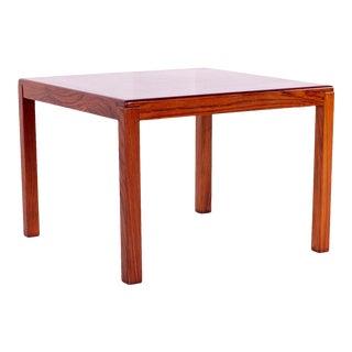 1960s Mid-Century Modern Vejle Stole Mobelfabrik Rosewood Square Corner/End Table For Sale