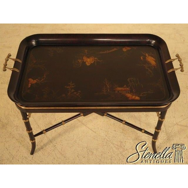Chinoiserie Theodore Alexander #1102-189 Chinoiserie Tray Top Coffee Table For Sale - Image 3 of 11