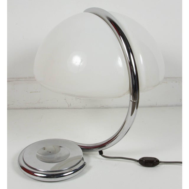 """Silver Martinelli Luce """"Serpente"""" Table Lamp For Sale - Image 8 of 10"""