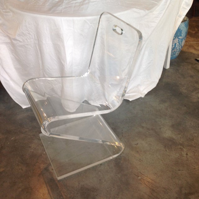Vintage Lucite Z Chair - Image 2 of 6