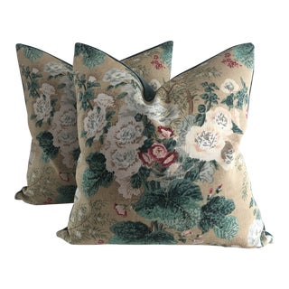 """Traditional Pillows in Lee Jofa """"Althea"""" Pillows - a Pair For Sale"""