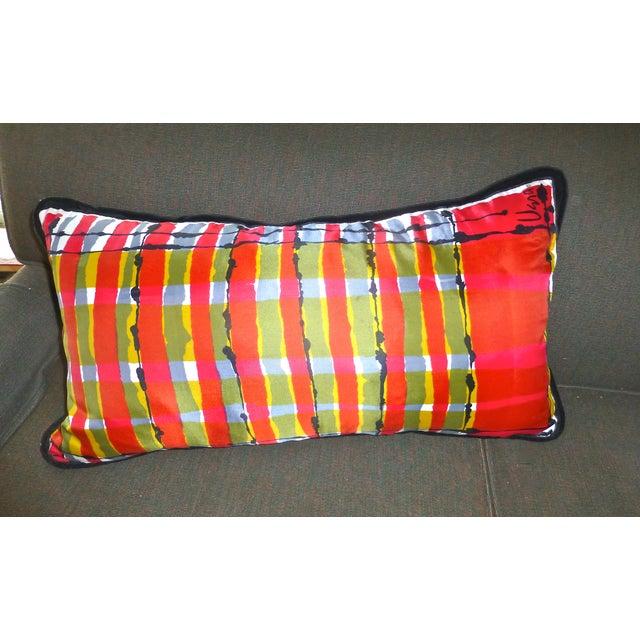 Custom Mid-Century Vera Neumann Scarf Pillow - Image 6 of 6