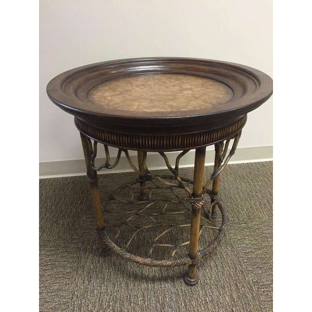 Wooden Round End Table - Image 2 of 8