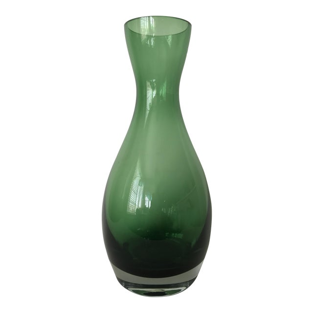Polish Green Glass Vase Chairish