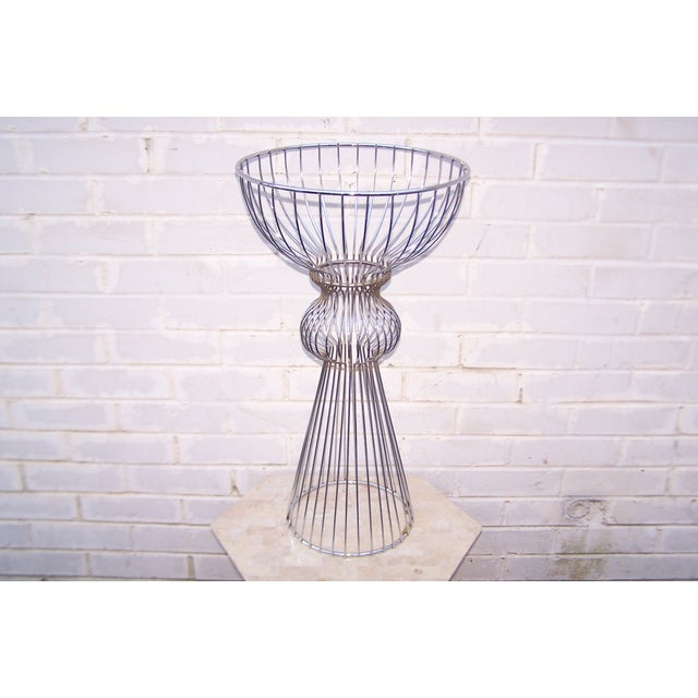 Vintage 1960s Steel Wire Sculptural Plant Stand - Image 2 of 9
