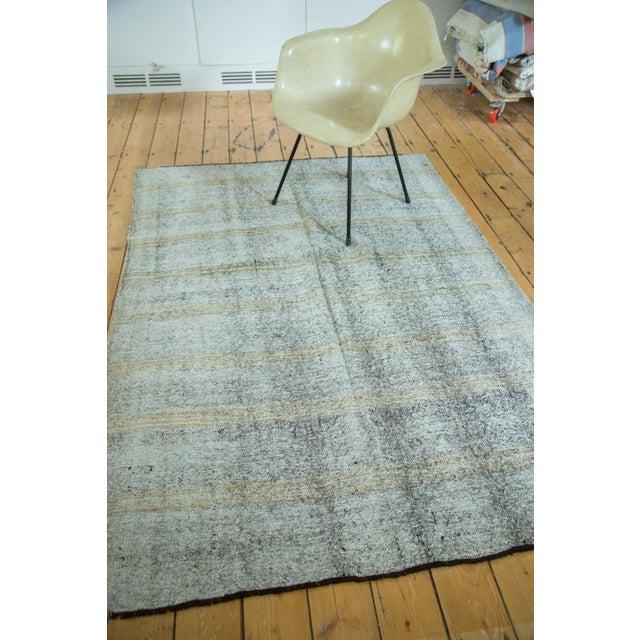 """Vintage Turkish Kilim Distressed Rug - 4'10"""" x 7' - Image 4 of 6"""