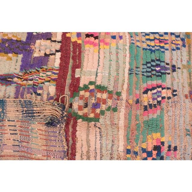 "Vintage Boucherouite Moroccan Rug - 3'3"" x 6'11"" - Image 4 of 4"