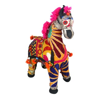 1950s Boho Chic Pink Accent Rajasthani Horse For Sale