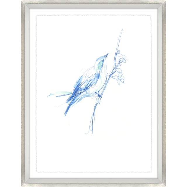 Blue Sapphire Chinoiserie Print Set Framed Kenneth Ludwig Chicago - 17 Pieces For Sale - Image 8 of 12