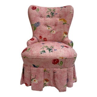Country Swedish Emma Boudoir Chair For Sale