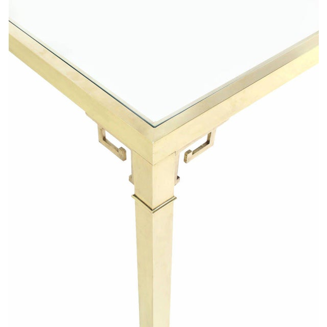 Early 20th Century Mastercraft Solid Brass Dining Table For Sale - Image 5 of 9