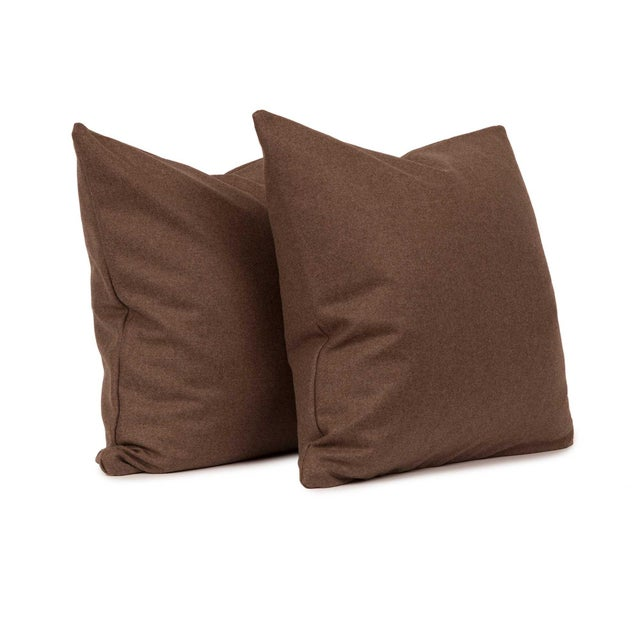Chevalier Wool Walnut Throw Pillow Cover Pair Chairish