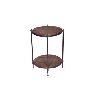 Rustic Cabot End Table With Bottom Shelf For Sale