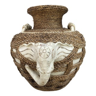Indian Elephant Clay Jar For Sale