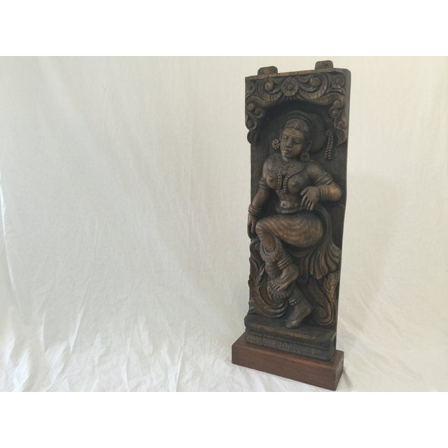 Indonesian Wood Carving on Stand - Image 11 of 11