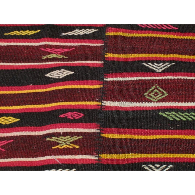 Pair of Banded Kilims For Sale In New York - Image 6 of 6