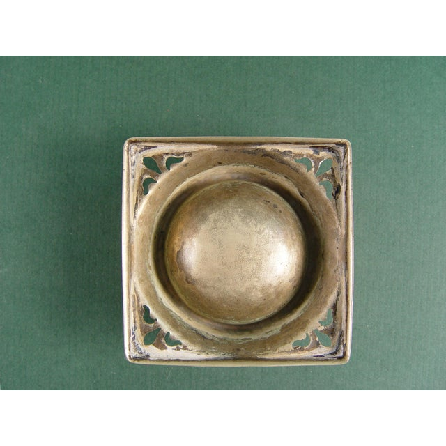 Vintage English Tea Strainer & Stand For Sale - Image 5 of 7