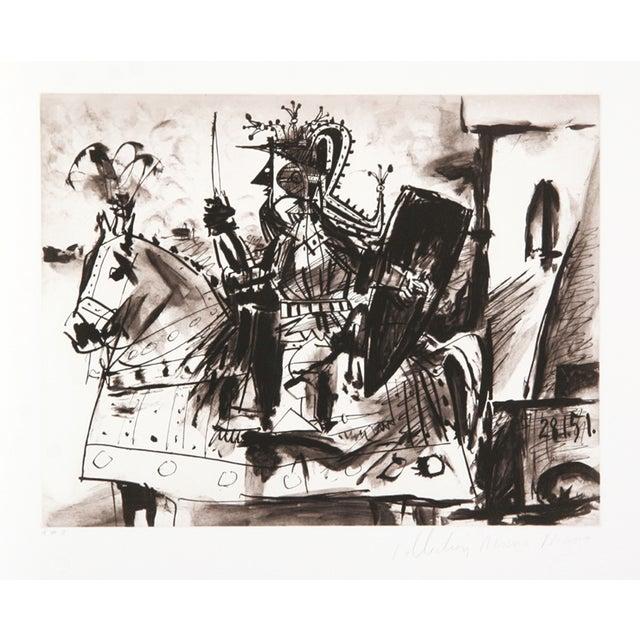 Pablo Picasso 'Cavalier en Armure' Lithograph For Sale