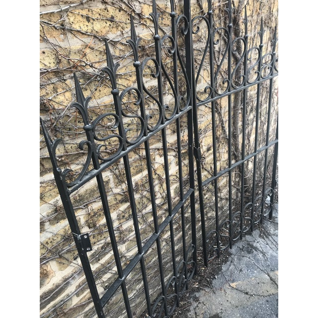 Traditional Heavy Wrought Iron Gate For Sale - Image 3 of 6