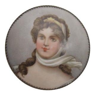 Victorian Porcelain Portrait Keepsake For Sale
