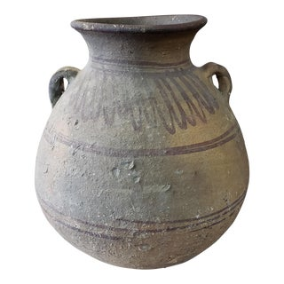 Circa 3000-2500 b.c. Chinese Neolithic Majiayao Earthenware Hand Painted Guan For Sale
