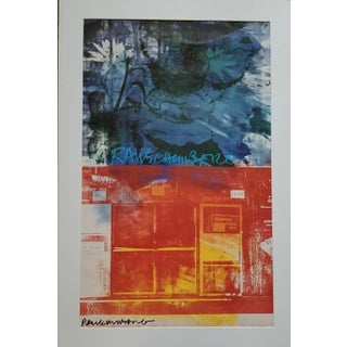 1990s Robert Rauschenberg Signed Limited Edition Lithograph Print For Sale