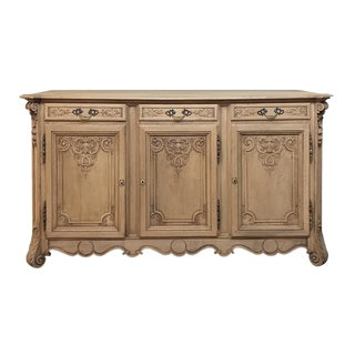 19th Century Country French Regence Stripped Oak Buffet