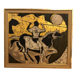 "1960s Vintage ""Horse and Rider"" Collage by Van Duzer For Sale"