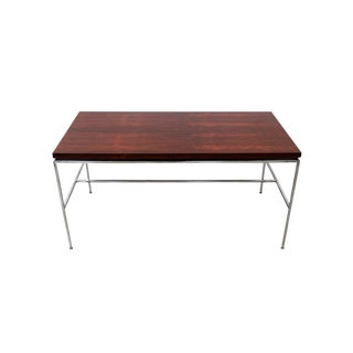 Minimalist Exotic Wood Desk by Drexel For Sale