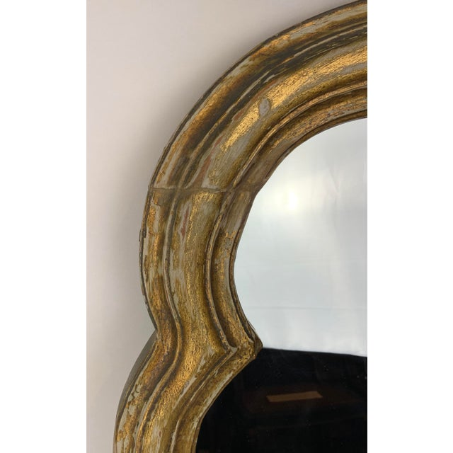 French Style Gilt Mirror With Floral Details For Sale - Image 4 of 12