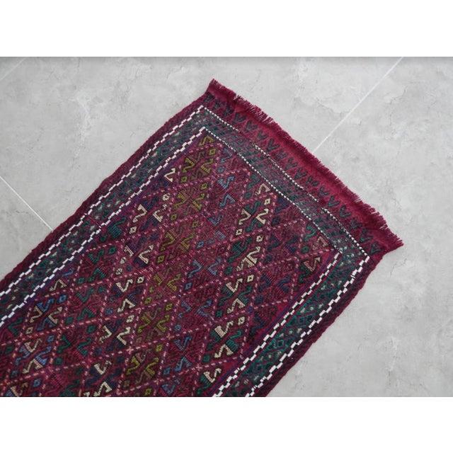 1970s Handwoven Turkish Kilim Rug Pastel Colors Area Rug Petite Braided Kilim For Sale - Image 5 of 8