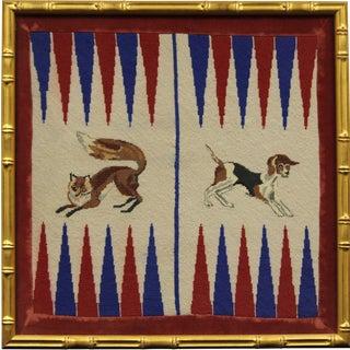 Fox & Hound Needlepoint Backgammon Board
