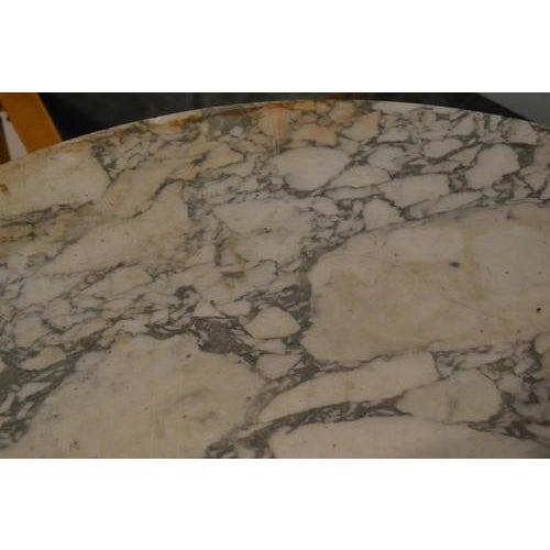 Metal Marble Top Gueridon Center Table For Sale - Image 7 of 12