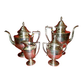 19c Frank M Whiting & Co Aesthetic Movement Sterling Service - Set of 4 For Sale