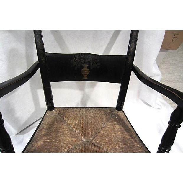 Tole Painted Hitchcock-Style Accent Chair - Image 3 of 9