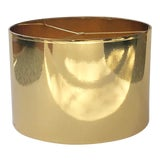 Image of Large Gold High Gloss Drum Lamp Shade For Sale