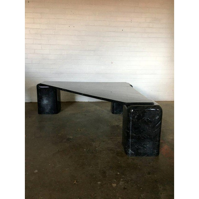 So proud to present to you this to you. Excellent condition black with white marble coffee or cocktail table. NO chips or...