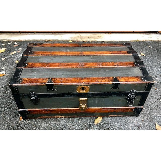 Iron 19th Century American Classical Customized Travel Trunk For Sale - Image 7 of 12
