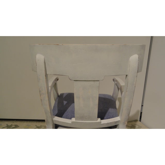 1990s Vintage Klismos Style Armchair For Sale - Image 4 of 11