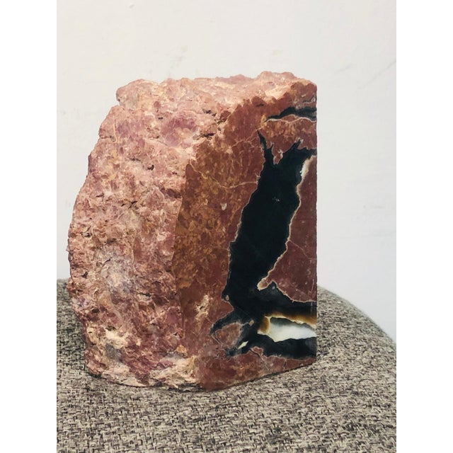 Mid 20th Century Mid 20th Century Petrified Wood Geode Book Ends - a Pair For Sale - Image 5 of 8