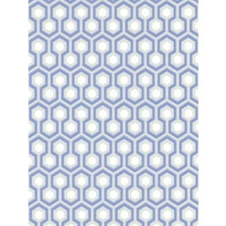 Cole & Son Hicks' Hexagon Wallpaper Roll - Blue/Gr For Sale