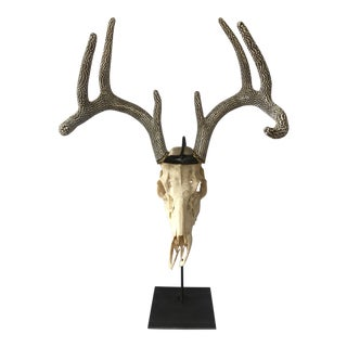 Swarovski Encrusted Antler 'Disco' Deer For Sale